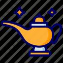 lamp, genie, magic, wizard, magician icon