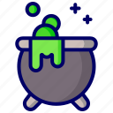 magic, magical, pot, potion, witch icon