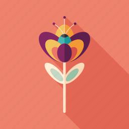 bloom, bud, flower, herb, leaves, magic, plant icon