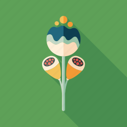 bloom, bud, flower, herb, leaves, magic, plant icon