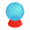 isometric, ball, magic, glass, magical, sphere, white