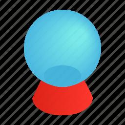 ball, glass, isometric, magic, magical, sphere, white icon