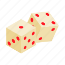 play, cube, dice, casino, isometric, game, gamble
