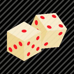 casino, cube, dice, gamble, game, isometric, play icon