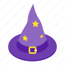 costume, halloween, hat, isometric, october, witch, witchcraft icon