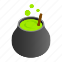 isometric, old, witchcraft, horror, cooking, cauldron, wicked