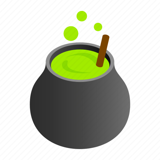 Cauldron, cooking, horror, isometric, old, wicked, witchcraft icon - Download on Iconfinder