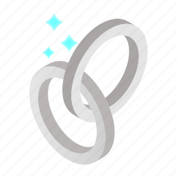 celebration, focus, isometric, jewelry, magic, pair, white icon