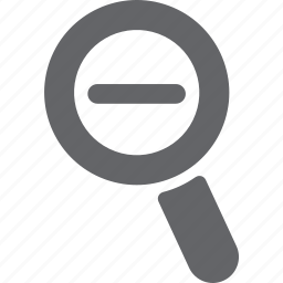 glass, magnifier, minus, reduce, remove, search, zoom icon