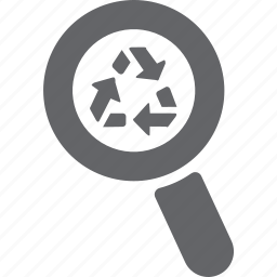 delete, glass, magnifier, recycle, remove, search, zoom icon