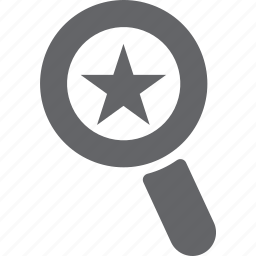 bookmark, favorite, glass, magnifier, search, star, zoom icon