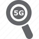 glass, magnifier, mobile, search, tower, zoom icon