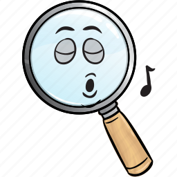 emoji, find, glass, magnifier, magnifying, optimization, search icon