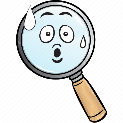 emoji, glass, magnifying, marketing, search, seo icon