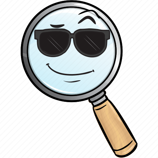 emoji, find, glass, magnifier, magnifying, search, seo icon