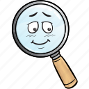 emoji, find, glass, magnifying, marketing, search, seo icon