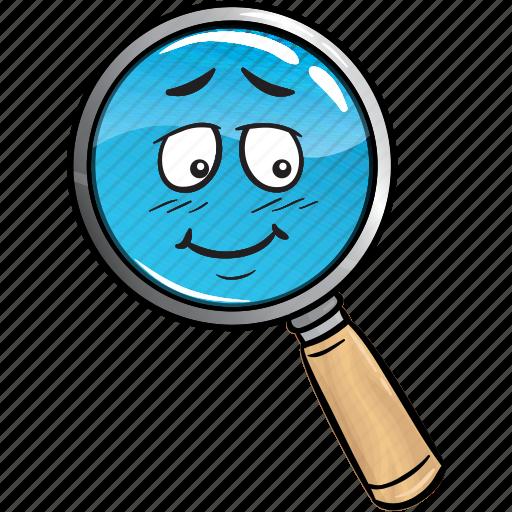 emoji, find, glass, magnifying, marketing, search, seo icon