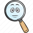 emoji, find, glass, magnifying, search, seo, zoom icon