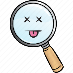 emoji, find, glass, magnifier, magnifying, search icon
