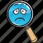business, emoji, glass, magnifying, marketing, search, seo icon