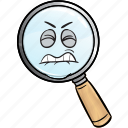 emoji, glass, magnifying, marketing, search, seo, web icon