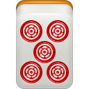 dora, mahjong, red icon