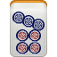 mahjong, pin icon