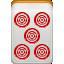 dora, mahjong, red icon