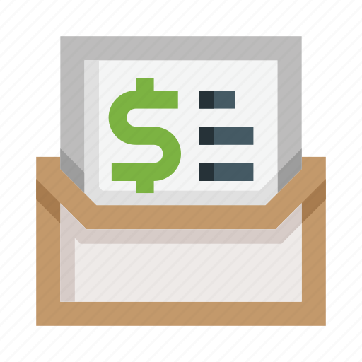 Mail, letter, envelope, money, email, bill, invoice icon - Download on Iconfinder