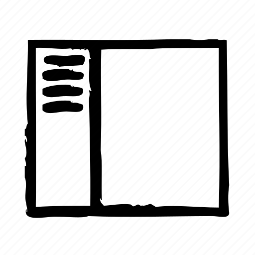 interface, sidebar, software, ui, user, view icon