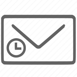 mail, schedule, schedule mail, schedule task, timer mail icon