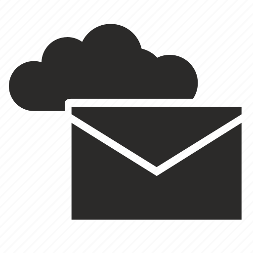 cloud, cloud mail, email, letter, mail, mailbox icon