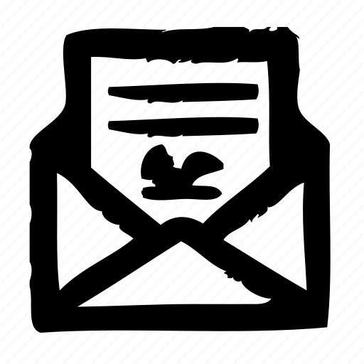 contract, delivery, envelope, mail, postal, service icon