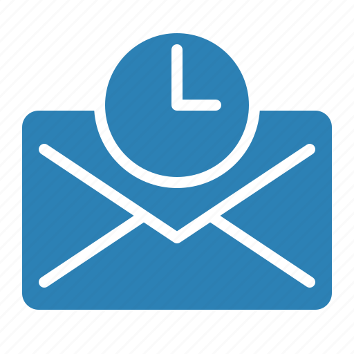 Waiting For Mail >> Communication Email Envelope Mail Message Time Waiting Icon