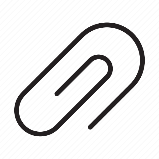 attach, attached, attached file, attachment, clip, file, paperclip icon