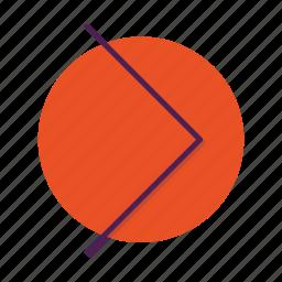 arrow, chevron, right icon
