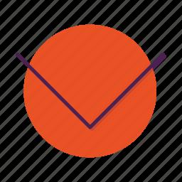 arrow, chevron, direction, down, move icon
