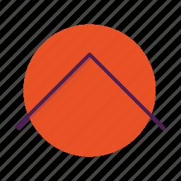 arrow, chevron, direction, move, top, up icon