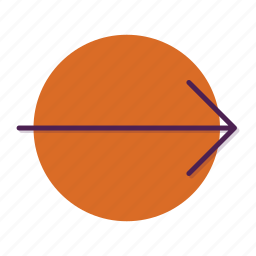 arrow, right, slip icon