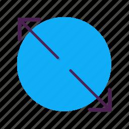 arrow, increase, slip icon
