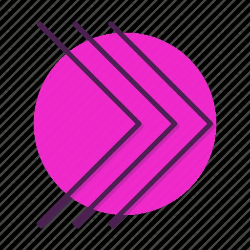 arrow, chevron, move, right icon