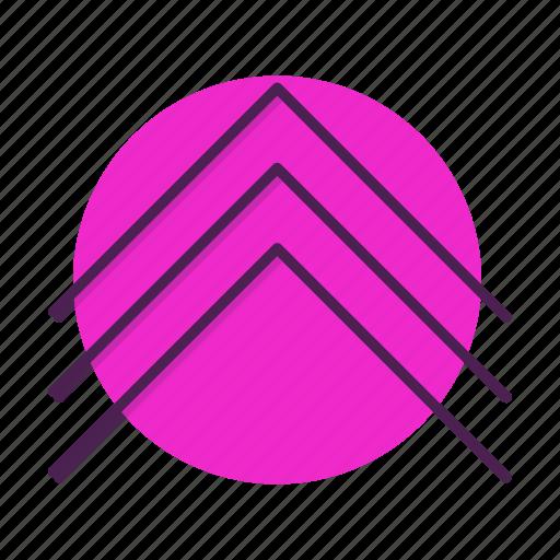 arrow, chevron, direction, move, up icon