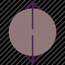 arrow, direction, increase, move, slip icon