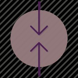 arrow, decrease, slip icon