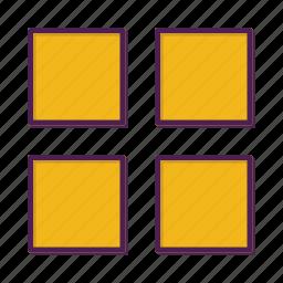 grid, layout, web icon