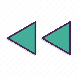 arrow, arrows, direction, previous icon