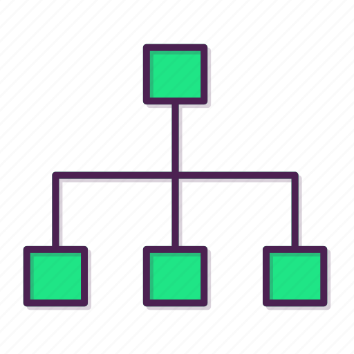 computing share, hierarchy, network, share icon