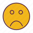 emoticon, smiley, unhappy icon