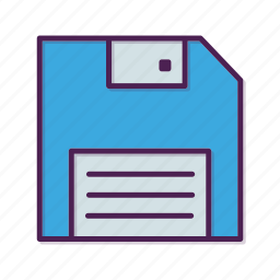 backup, disk, diskette, download, drive, floppy icon