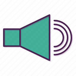 audio, device, loudspeaker, sound, speaker, up icon